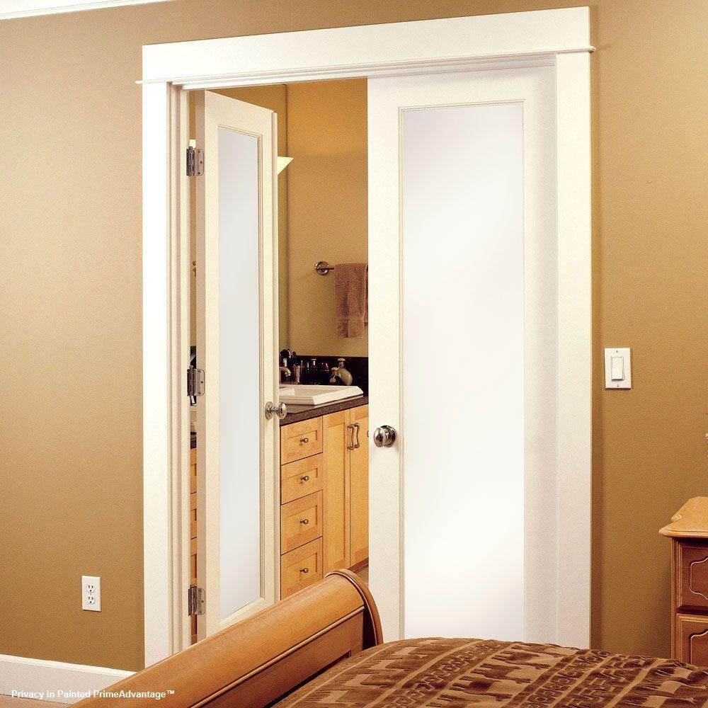 Feather River Doors 24 in. x 80 in. Privacy Smooth 1 Lite Primed MDF ...