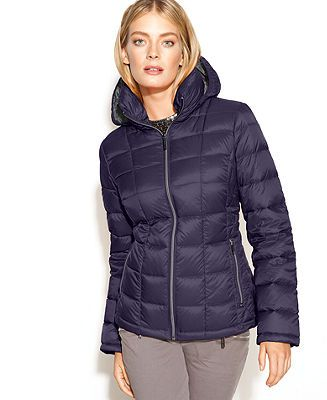 MICHAEL Michael Kors Coat, Hooded Quilted Down Packable Puffer - Coats -  Women - Macy s dbe5a361aa