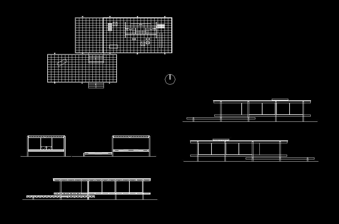 Farnsworth House Cad Design Free Cad Blocks Drawings