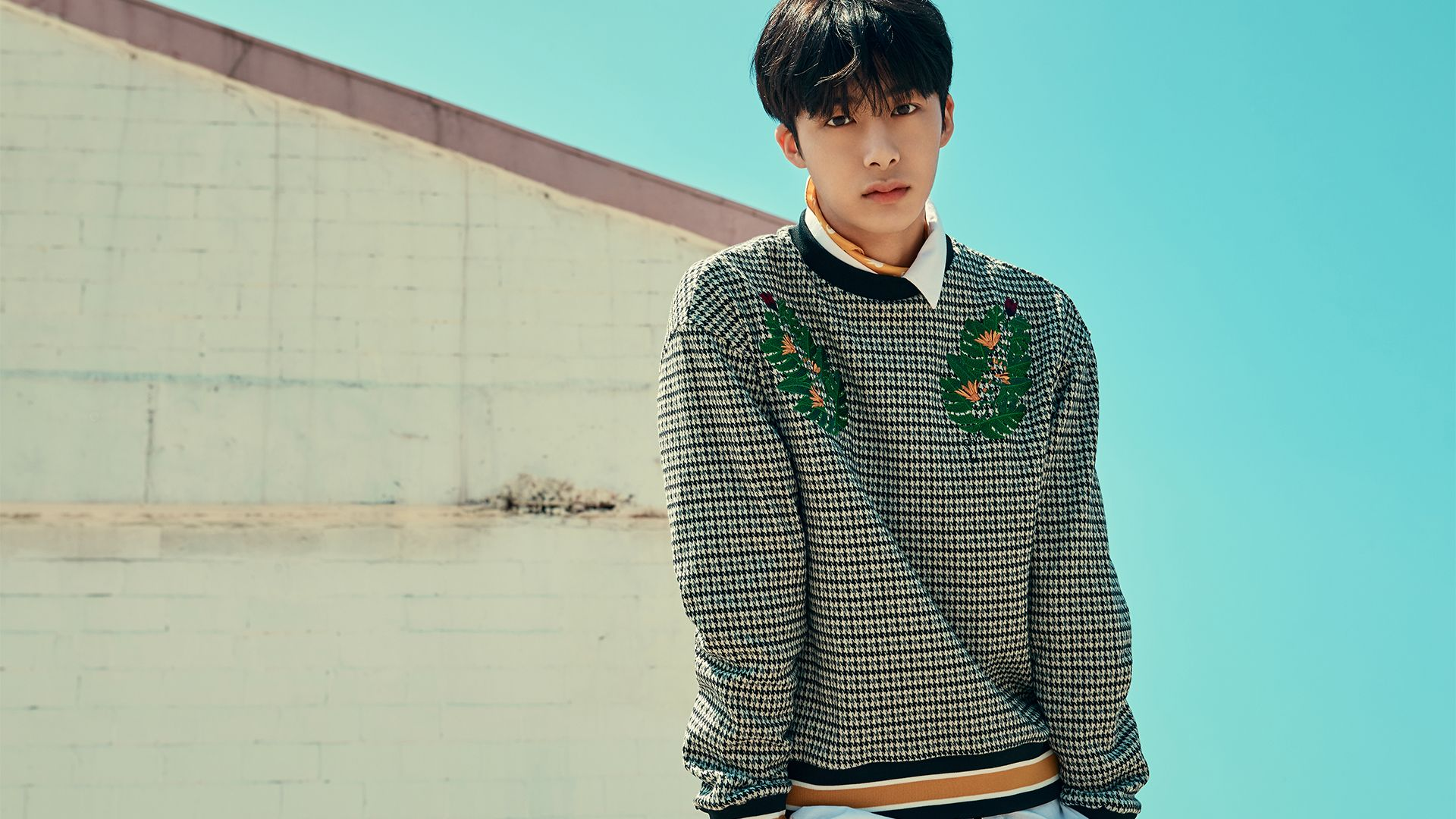 """Desktop Wallpaper Monsta X ˪¬ìŠ¤íƒ€ì—'스 Chaehyungwon ̱""""형원 Hyungwon ͘•ì› Long Sleeve Tshirt Men Hyungwon Monsta X"""