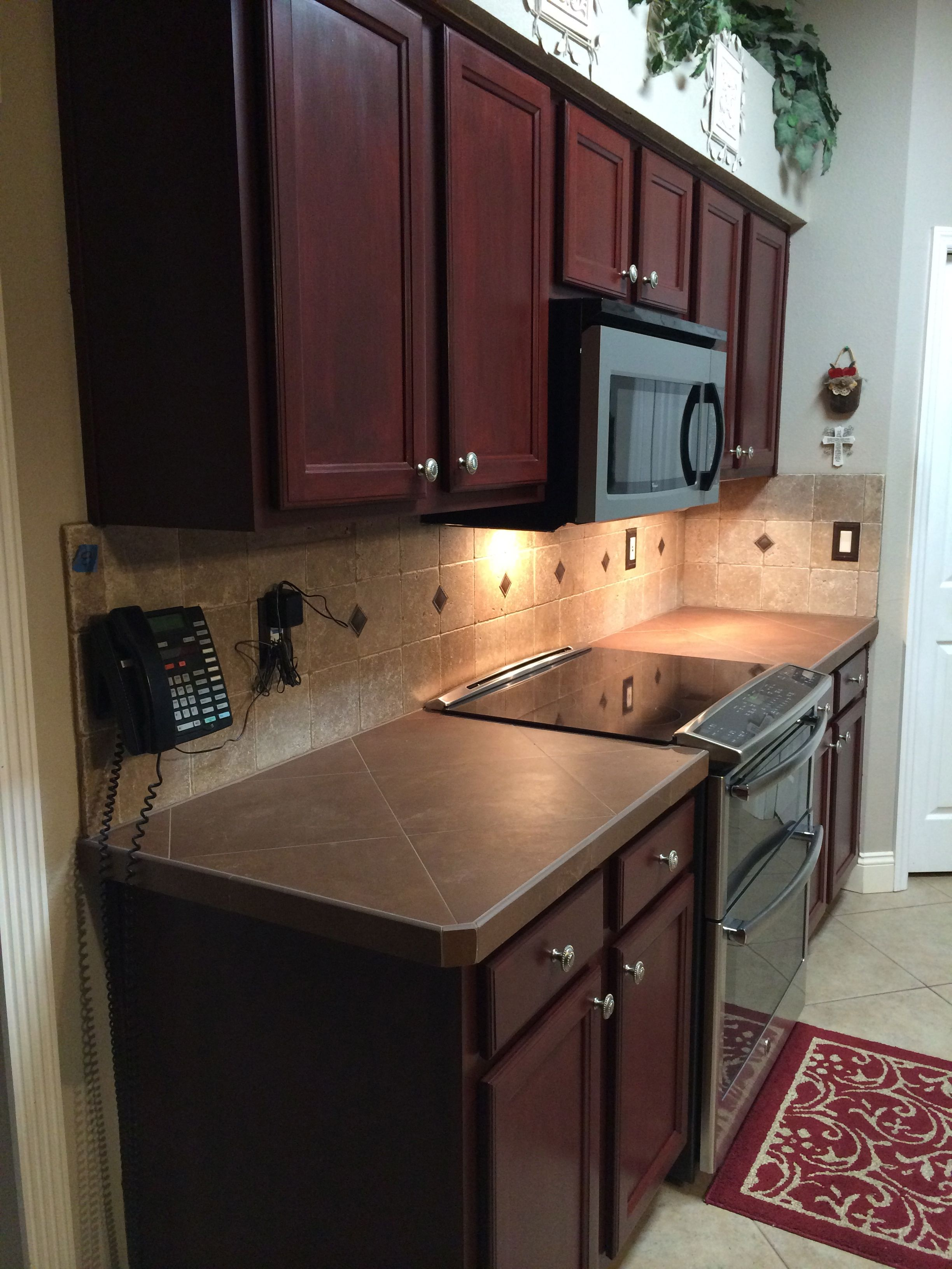 Done We Love How It Looks Now Every Time We Walk In We Think We Re In Someone Else S House Kitchen Remodel Rustoleum Cabinet Rustoleum Cabinet Transformation