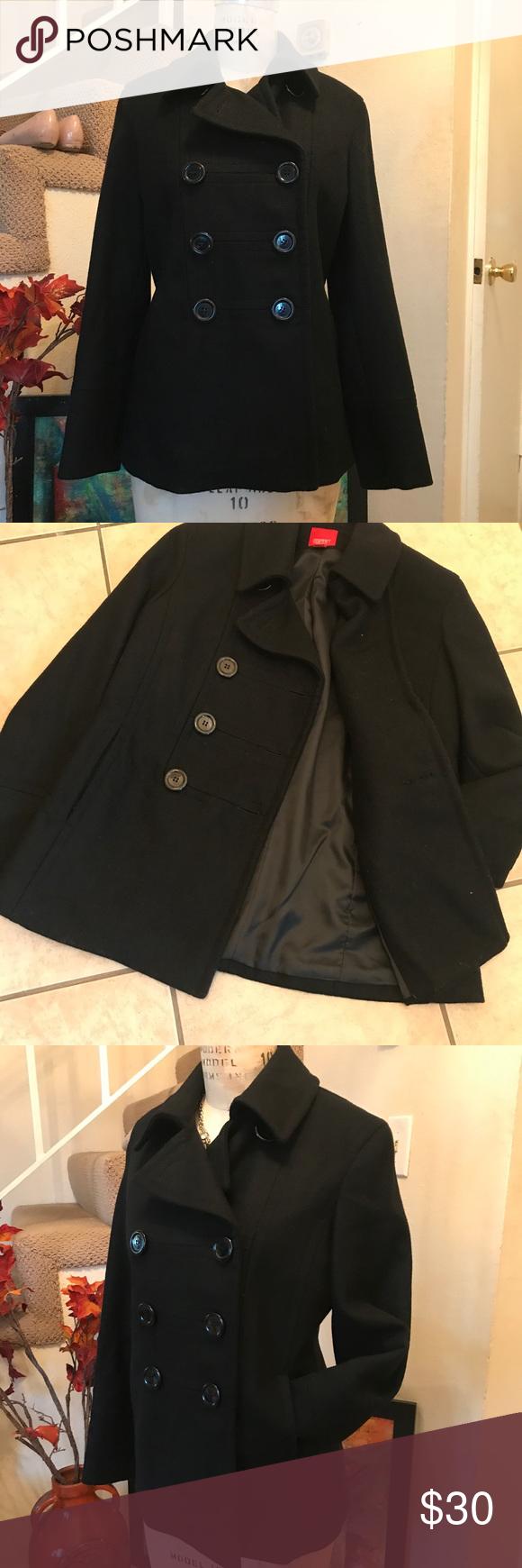 Esprit Wool Blend Double Breasted Coat Jacket Sz M Double Breasted Coat Coats Jackets Jackets [ 1740 x 580 Pixel ]