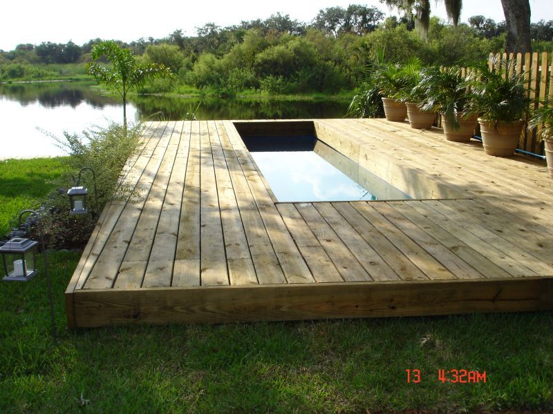 landscaping ideas above ground lap pool possibilities - Above Ground Fiberglass Lap Pools