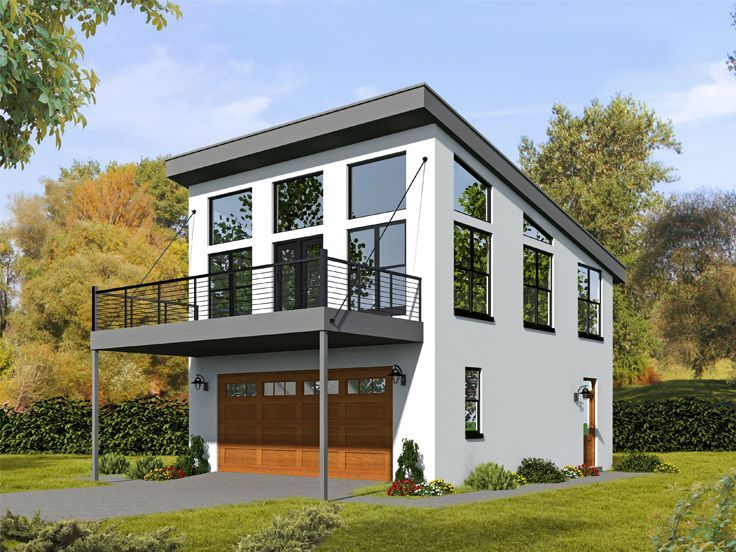 062g 0100 Modern Carriage House Plan With Workshop Area Carriage House Plans Garage House Plans Garage Apartment Plans