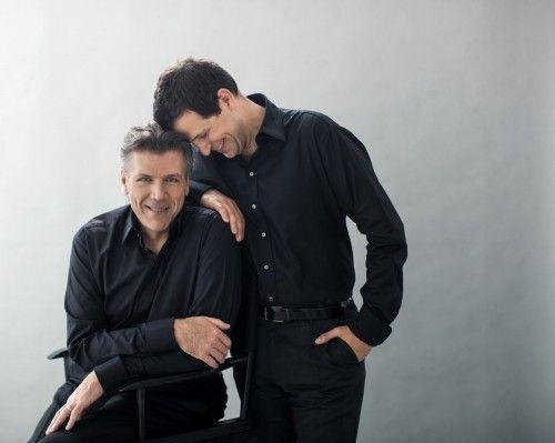 Luca Pisaroni with father-in-law Thomas Hampson - photo Dario Acosta