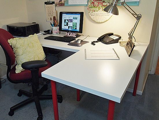 Decorations I Made For My Office Makeover Ikea Desk Ikea L Shaped Desk Office Makeover