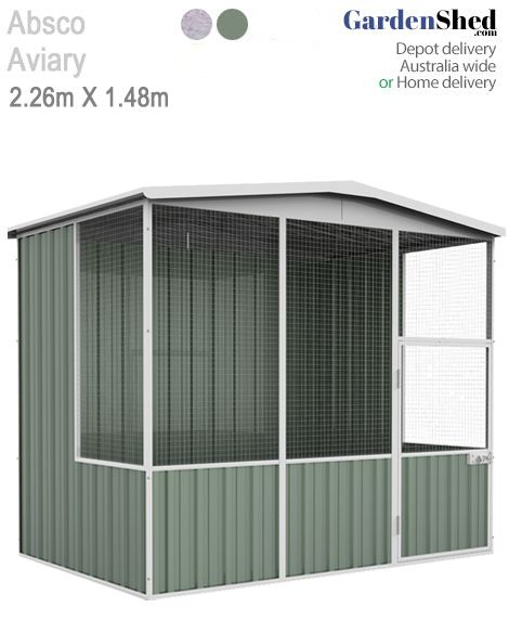 Absco Aviary 2 26m X 1 52m Bird Cage Aviary Gardenshed Com Hinged Patio Doors Flat Roof Repair Roofing