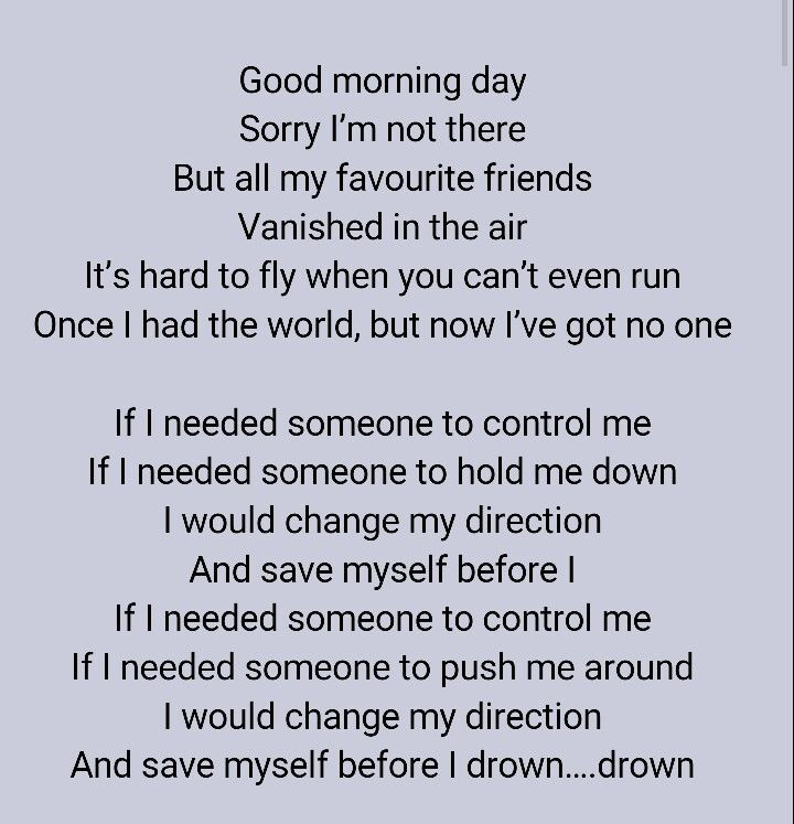 Drown by Three Days Grace