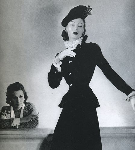 Coco Chanel and model, 1940's | Vintage chanel, Coco chanel ...