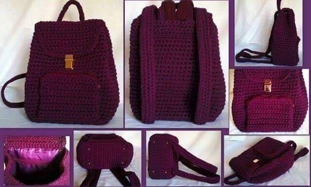 tığ işi örgü çanta modelleri (11) #backpacks