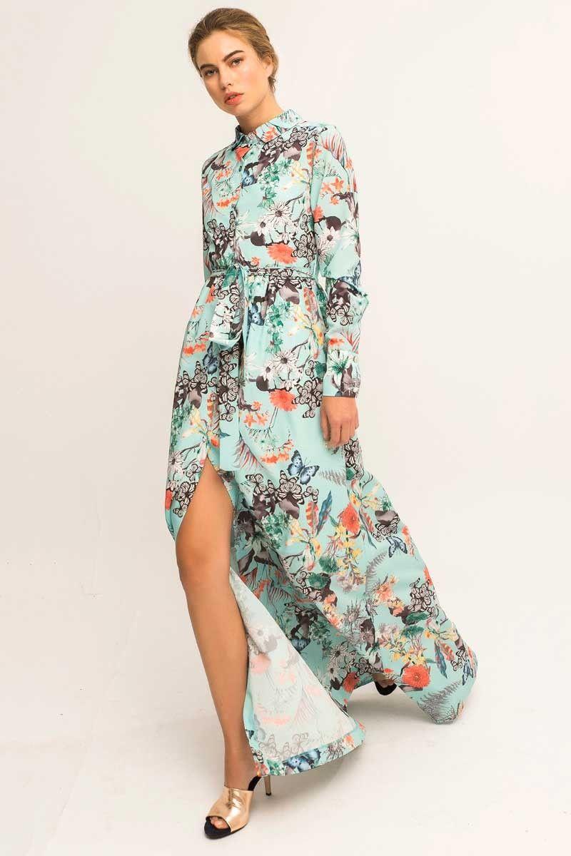 Vestidos largos de flores para matrimonio
