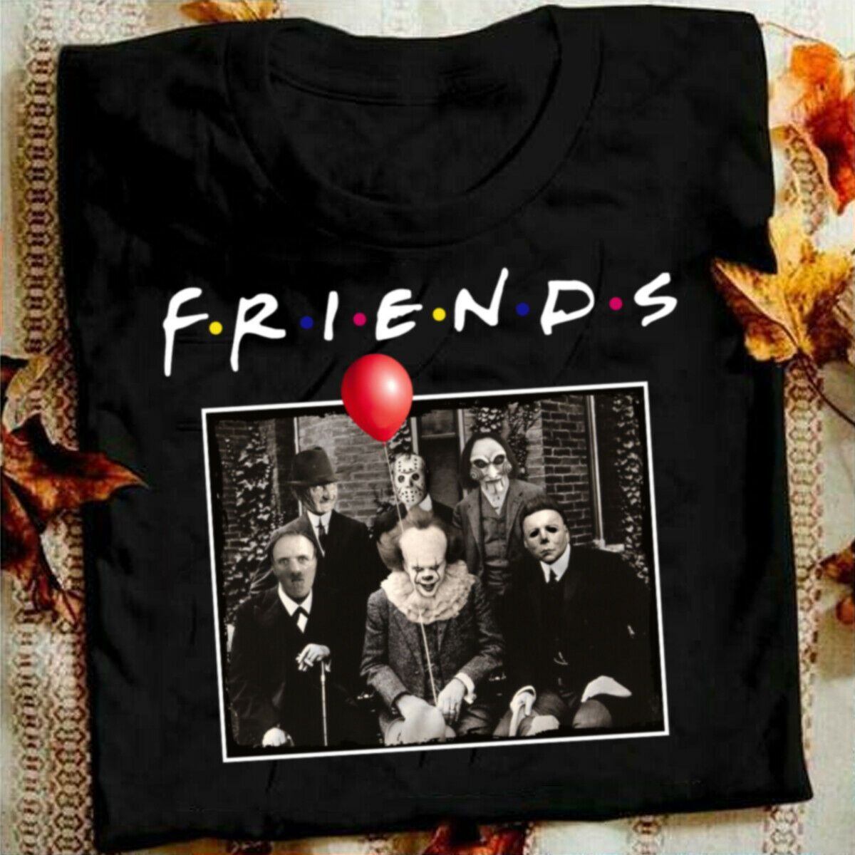 100 cotton Horror Friends Pennywise Michael Myers Jason