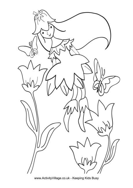 Spring Fairy Colouring Page Fairy Coloring Pages, Fairy Coloring, Spring  Coloring Pages