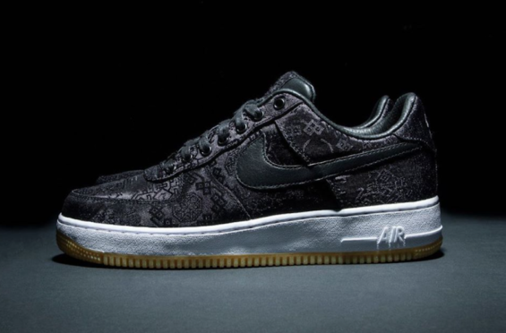 The Fragment x Clot x Nike Air Force 1 PRM Black Is