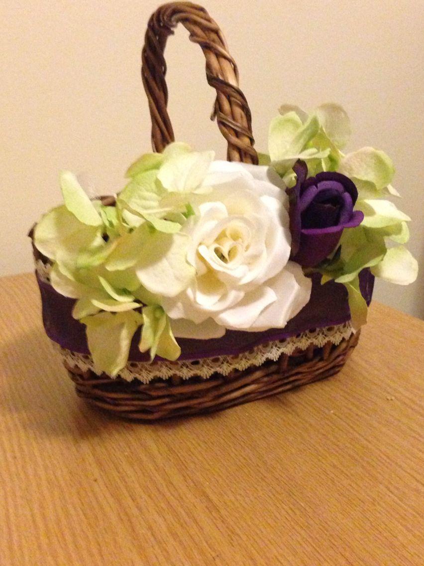 Diy flower girl baskets i love them so beautiful pinterested me diy flower girl baskets i love them so beautiful izmirmasajfo