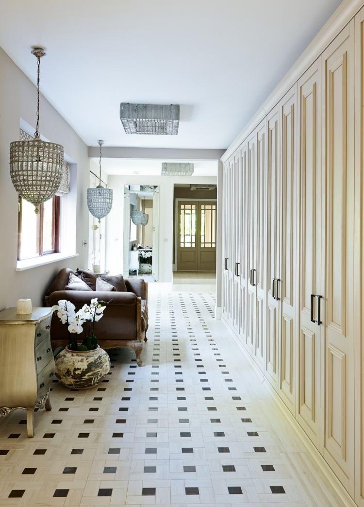 Carrelage original couloir et carreaux de ciment multicolores