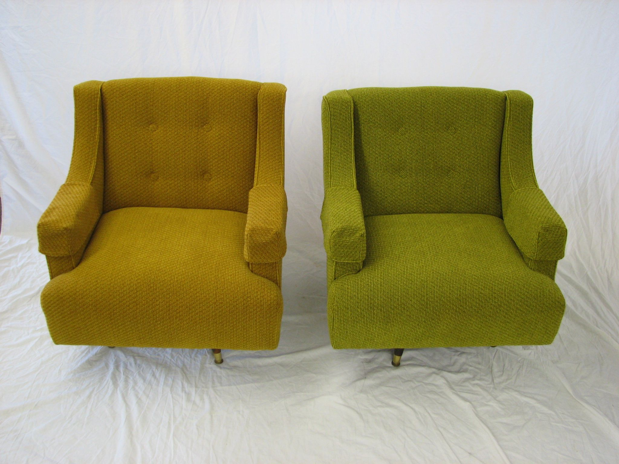 1950's upholstered chairs (2)