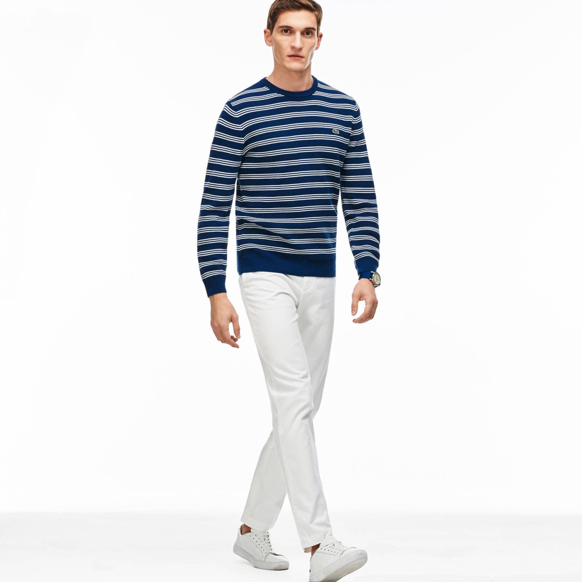 cde84af5bd LACOSTE Men'S Slim Fit Cotton Gabardine Chino Pants - White ...