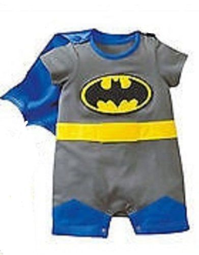 d7840bf998 From 8.99 Superman Batman Supergirl Baby Grow Funky Cute Fancy Dress Outfit  Gift (0-6 Months Batman Short Sleeve)