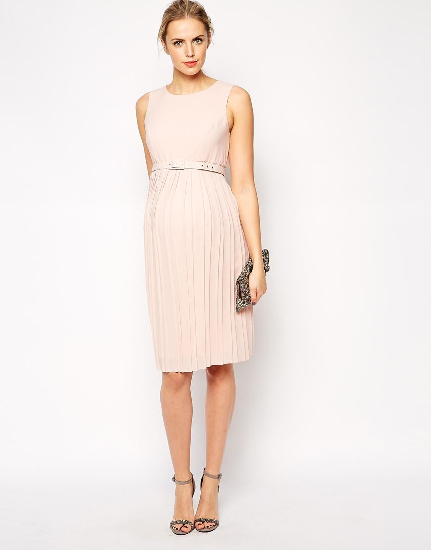 Image 4 of asos maternity midi skater dress with pleated skirt and image 4 of asos maternity midi skater dress with pleated skirt and belt ombrellifo Gallery