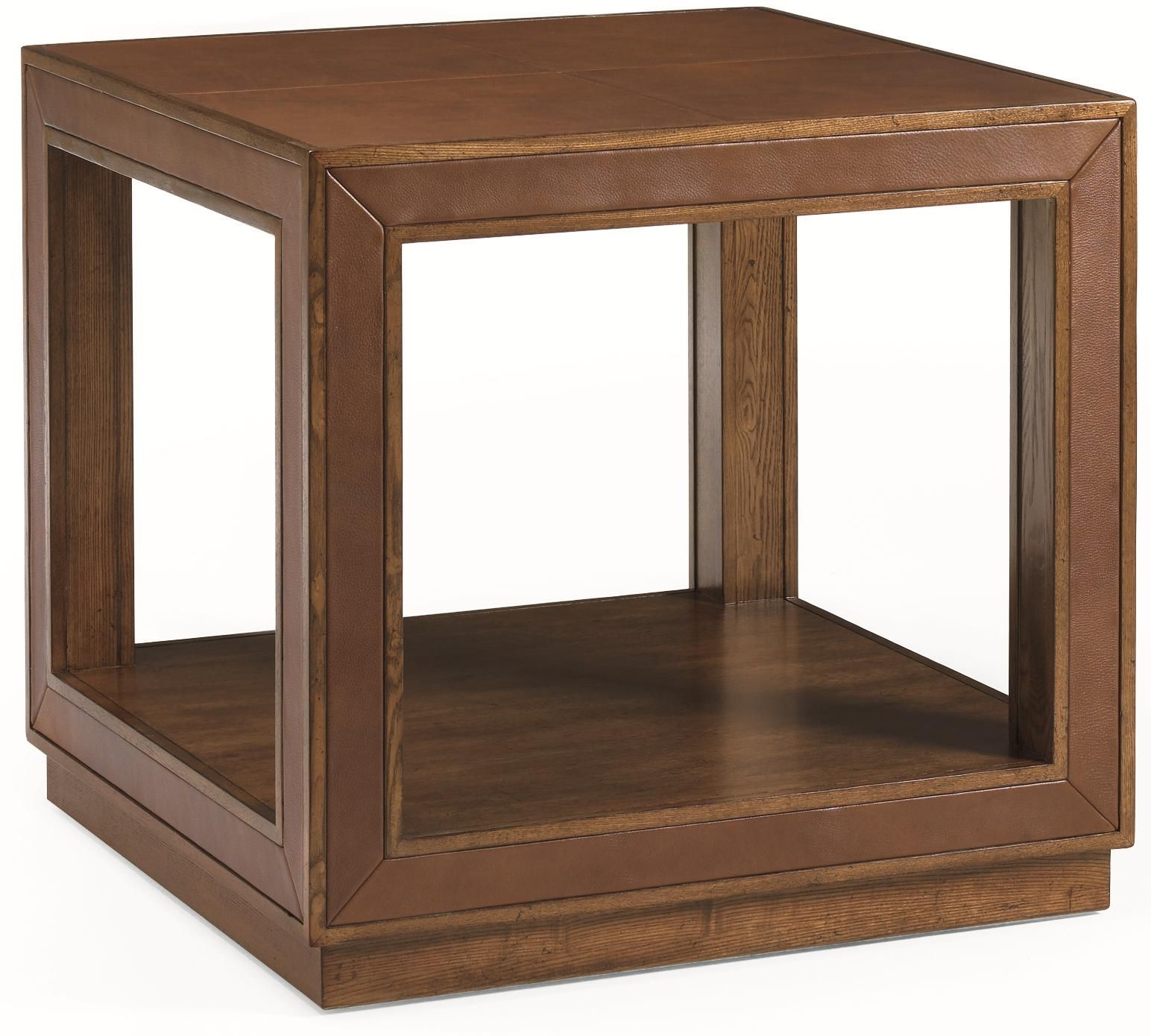 River Run Simplicity Leather End Table By Schnadig