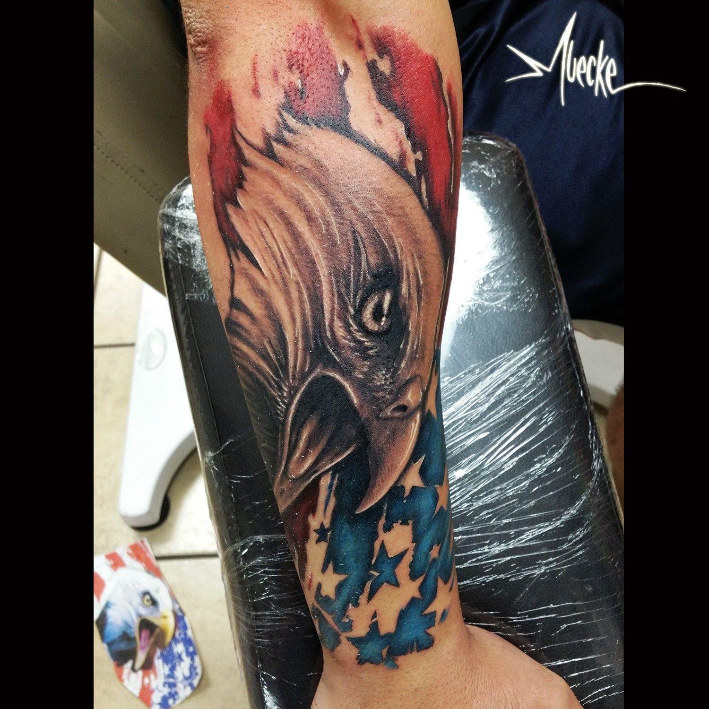 American flag and eagle tattoo. America tattoos, flag and ...