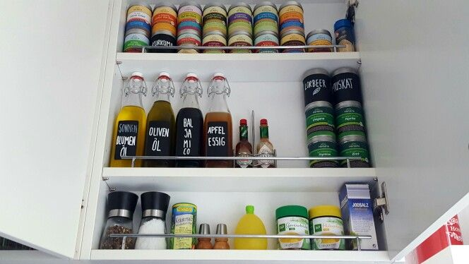 Gewürzschrank #Gewürze #Schrank #organisation #Ordnung #Essig #Öl - ordnung in der küche