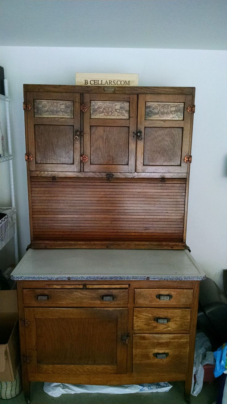 Original Oak Hoosier McDougall Kitchen Cabinet w Flour Bin Sugar Jar | eBay - Original Oak Hoosier McDougall Kitchen Cabinet W Flour Bin Sugar