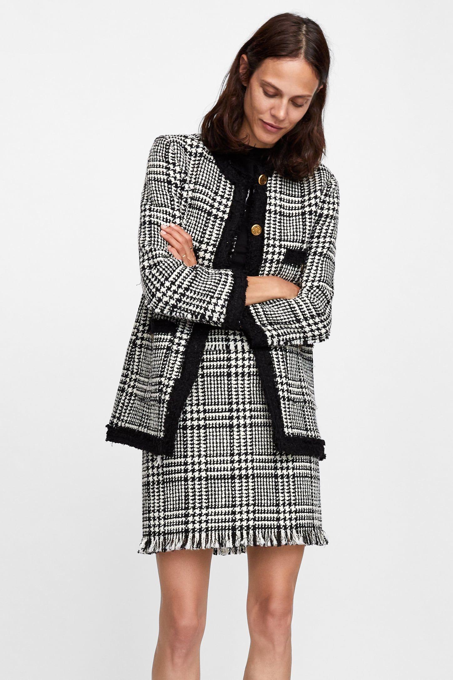 blazer larga tweed | high street fashion, lässige büromode