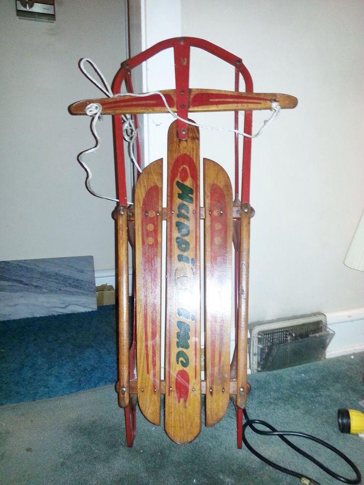 Vintage 1950s 1960s Snow Sled Radio Flyer Best Sled Ever When I