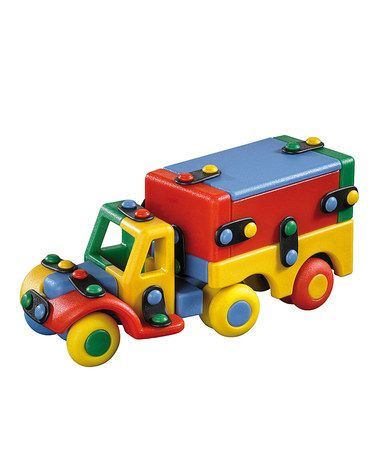 Take a look at this Small Semi Truck Construction Kit by Mic-O-Mic on #zulily today! $10 !!