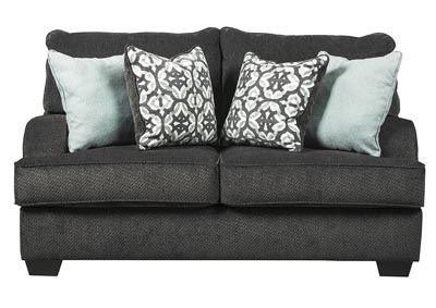 Best Charenton Charcoal Loveseat Category Living Room 400 x 300