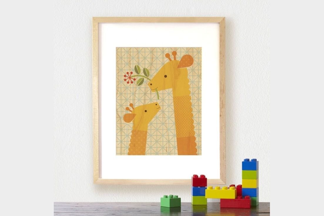 Petit Collage's adorable Animal Prints on Wood are the perfect way to brighten up any nursery or little one's room.