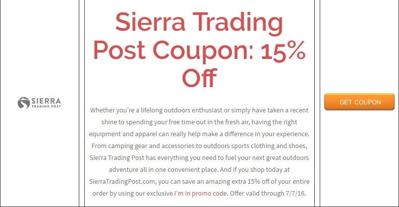 online coupon code for sierra trading post