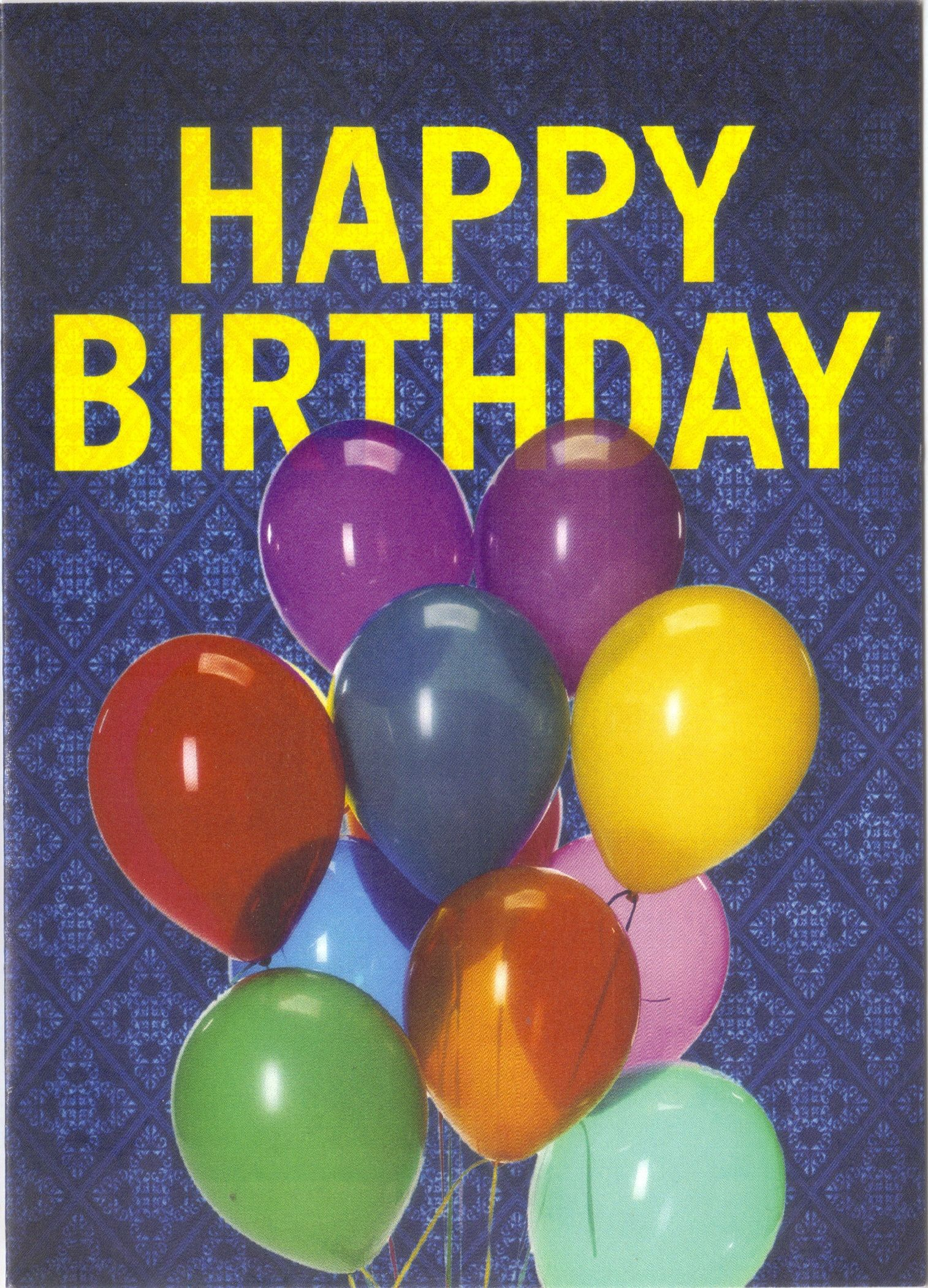 Happy birthday card with balloons cute from capitolone financial