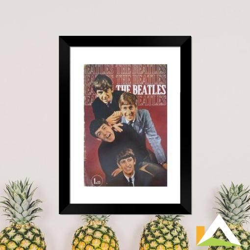 Quadro de Poster da banda The Beatles.