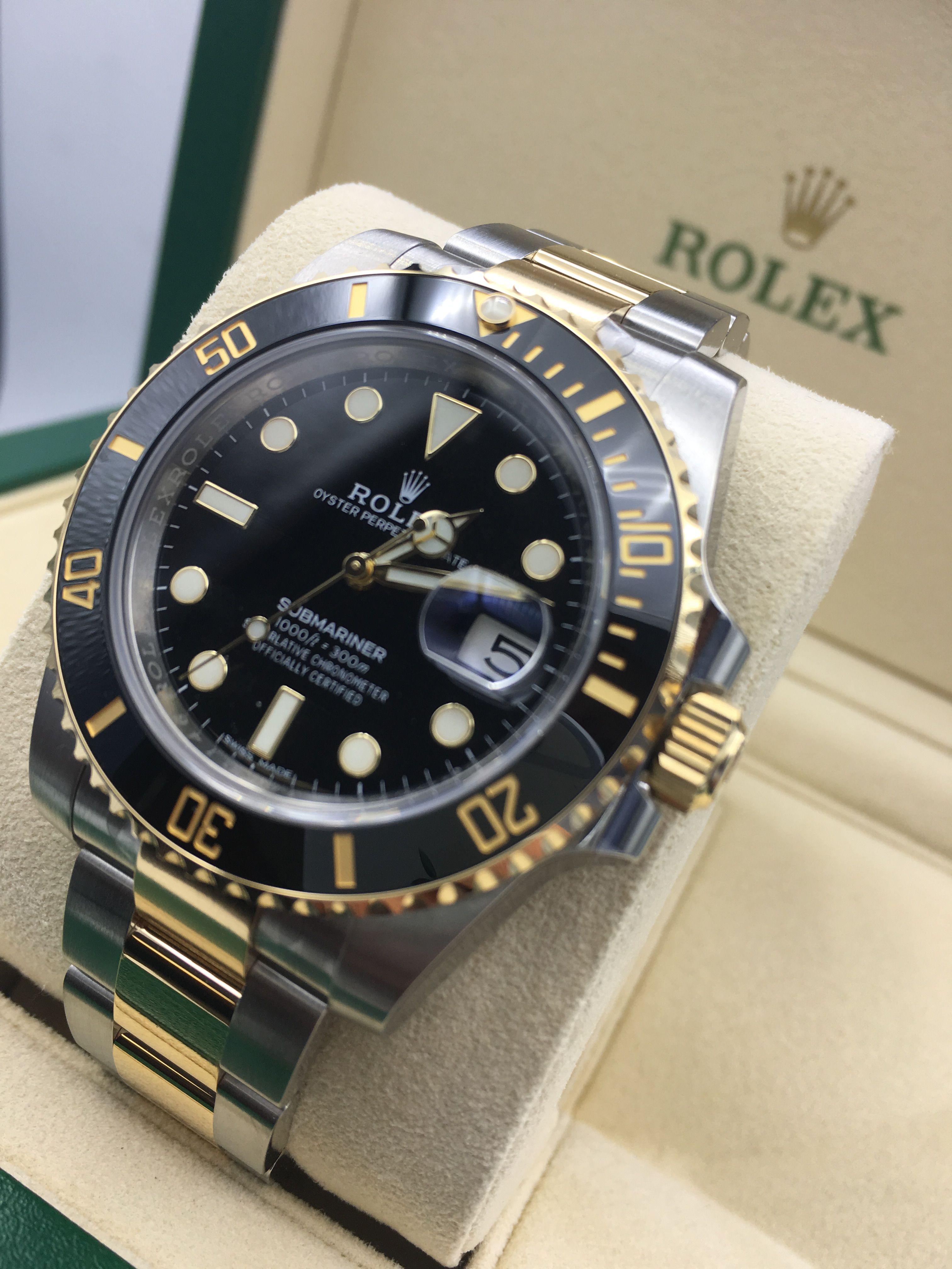 Rolex Submariner Steel Gold Black 116613ln Rolex Submariner Rolex Luxury Watches For Men