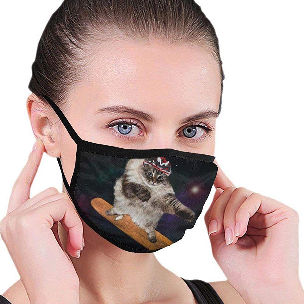 Czlxd Lustige Katzen Schutzmaske Im Kosmos Gegen Staub Anti