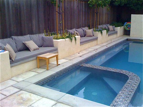 Pool Seating Backyard Seating Swimming Pool House Backyard