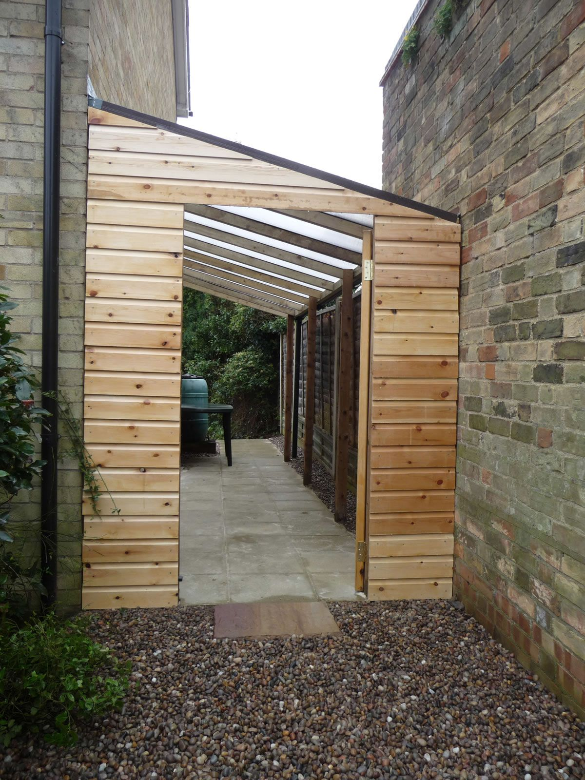 Huntingdon garden lean to utility garage pinterest for Small garden shelter