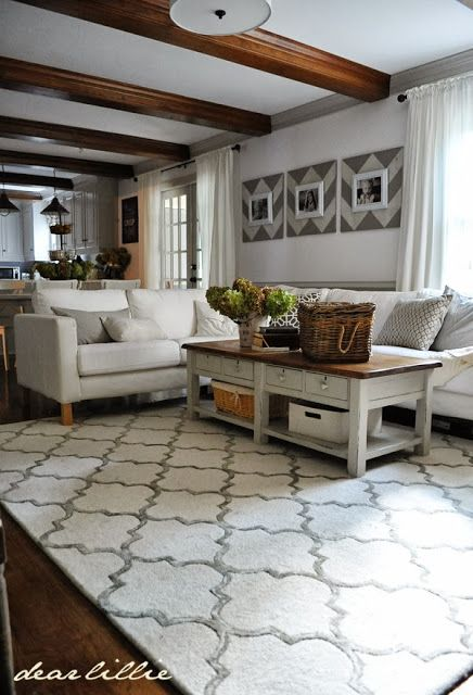 Dear Lillie We Finally Have A Rug Our Finished Family Room Rugs In Living Room Home Family Room A rug for family room