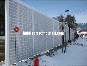 Perforated Metal Sound Barriers Road Noise Barrier Walls