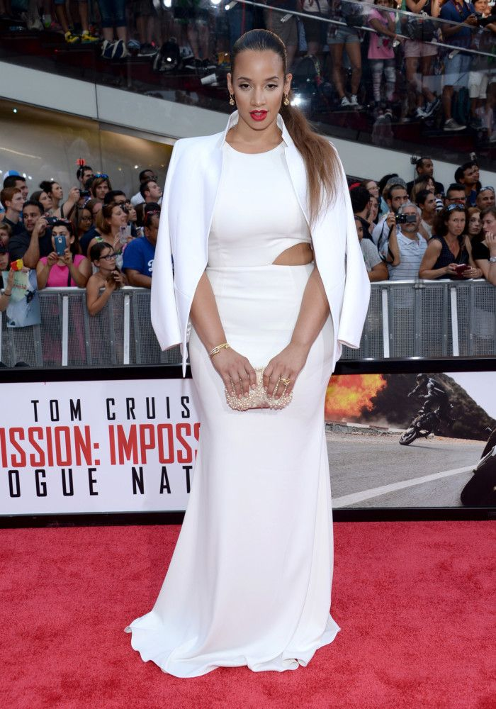 Dascha Polanco in a white cut out gown | Celebrity Style | Pinterest ...