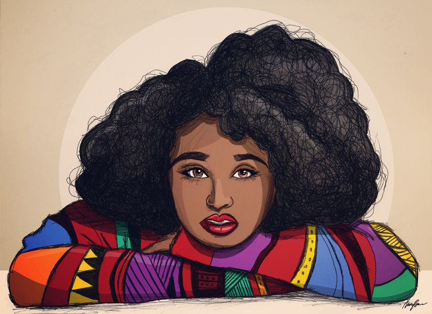 black women art right through you mcfreshcreates