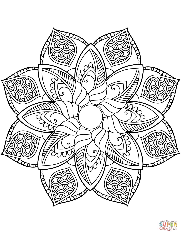 Blomster mandala tegninger | color me calm | Mandala ...