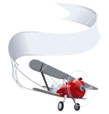 Retro airplane with banner vector image on   Banner vector ...