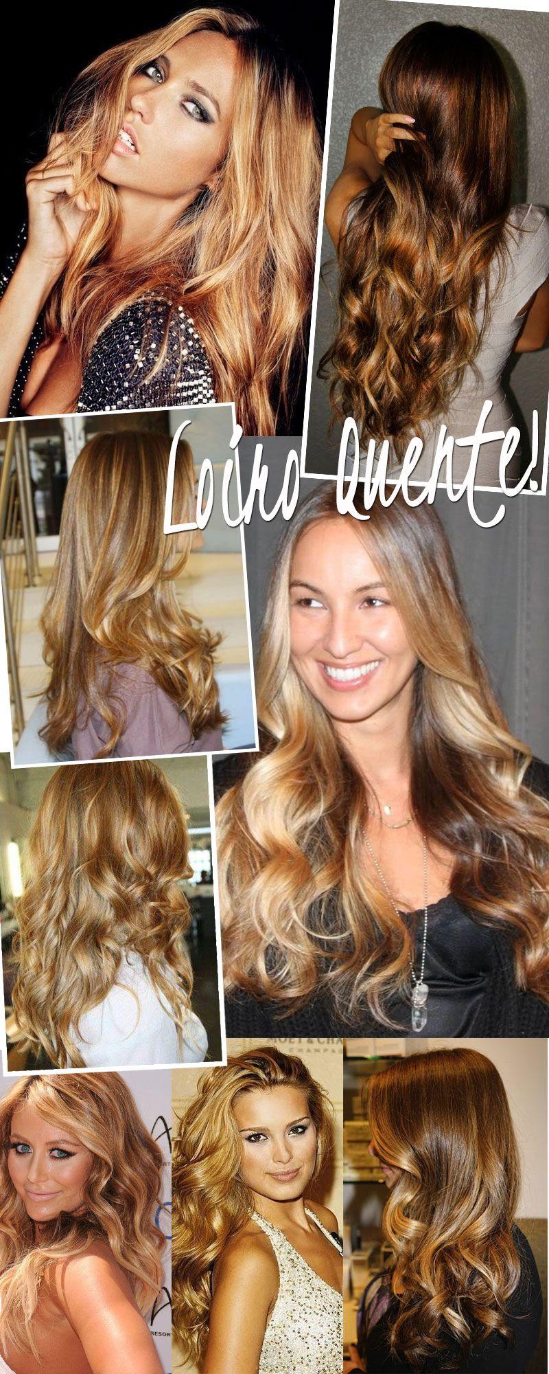 Cabelos loiros os tons do verão blonde wavy hair hair coloring