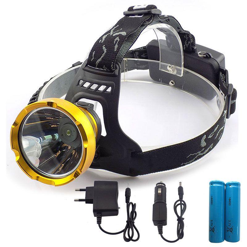 Puissant Led Phare De Phare Rechargeable Chef Lampe De Poche Lanterne Lampe Torche 18650 Batterie Pour Camping Randonnee Peche Lantern Lamp Head Flashlight Flashlight