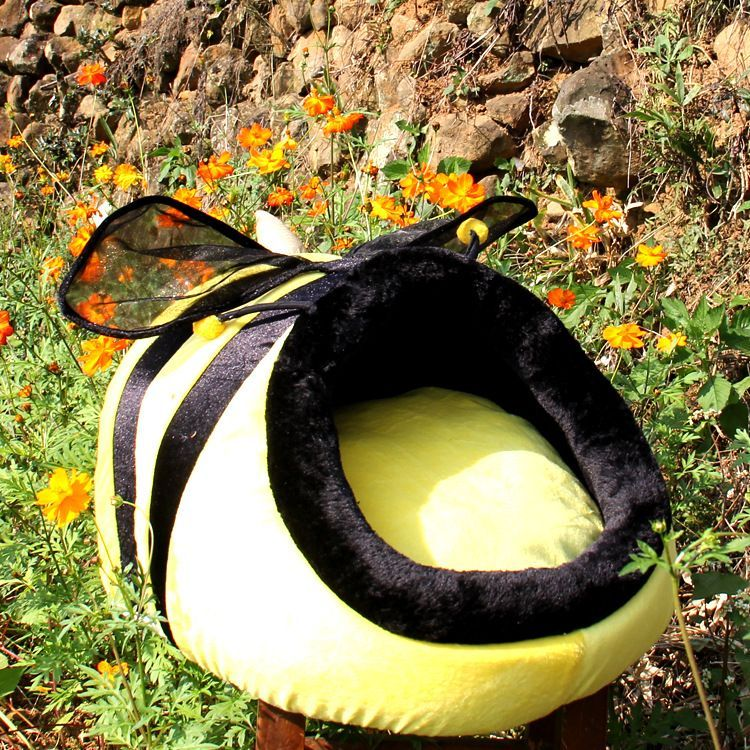 Funny bee small pet dog cat Bed House for Chihuahua