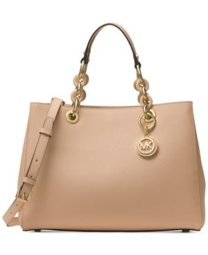 36c2bd396245 Michael Michael Kors Cynthia Small East West Satchel - Tan/Beige ...